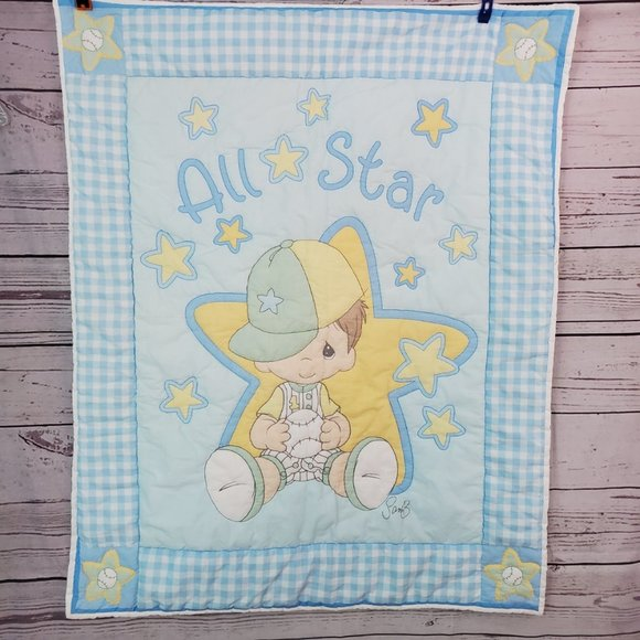 Precious Moments Baby Quilt  All Star